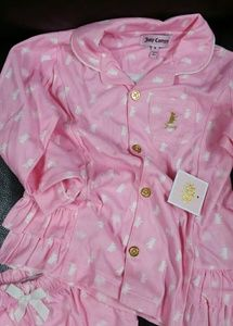 Juicy couture girls pajamas 6 pink peplum ruffle